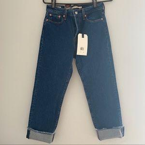Levi's Straight Denim Blue Jeans NWT - 26